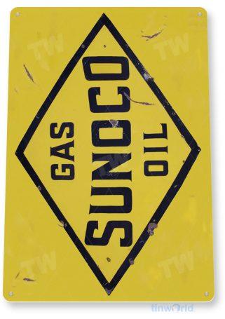 tin sign a635 sunoco oil gas station sign garage auto shop cave tinworld tinsign_com