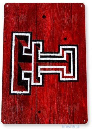 tin sign a648 texas tech rustic college football sports store bar dorm cave tinworld tinsign_com