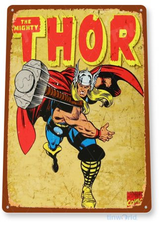 tin sign a651 thor comic rustic super hero sign store shop cave tinworld tinsign_com