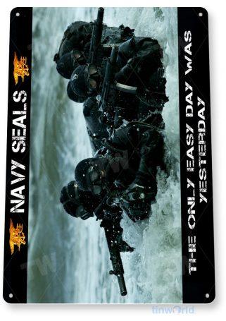 tin sign a663 u.s. navy seal team special forces photo patriotic shop cave tinworld tinsign_com