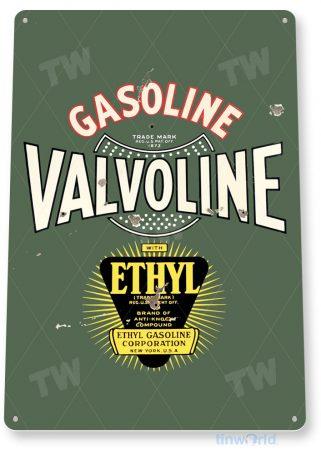 tin sign a668 valvoline ethyl medal gas oil rustic retro auto shop sign garage cave tinworld tinsign_com