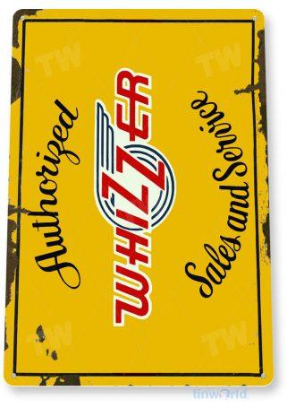 tin sign a681 whizzer sales service retro rustic store sign auto shop garage tinworld tinsign_com