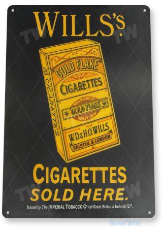 tin sign a684 will's cigarettes retro tobacco sign smoke shop store cave tinworld tinsign_com