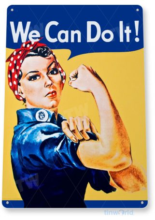 tin sign a697 we can do it retro pin-up girl ww2 cottage shop cave tinworld tinsign_com