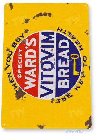 tin sign a704 ward's vitamin bread retro rustic sign kitchen cottage farm store tinworld tinsign_com