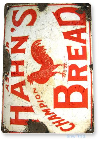 tin sign a721 hahn's bread rustic sign kitchen cottage farm store tinworld tinsign_com