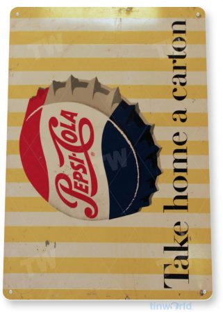 tin sign a731 pepsi cola carton rustic soda cap sign kitchen cottage cave tinworld tinsign_com