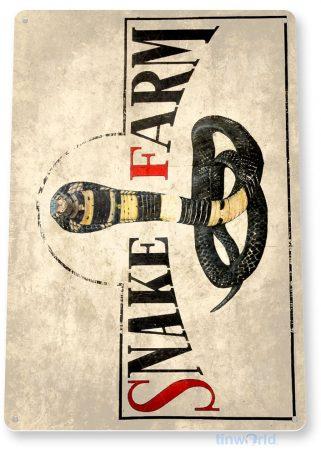 tin sign a740 snake farm cobra rustic sign pet store cage zoo tinworld tinsign_com