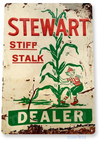 tin sign a742 stew dealer rustic retro stalk corn sign cottage farm feed store tinworld tinsign_com