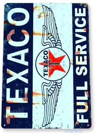tin sign a744 texaco retro rustic service gas oil station sign auto shop garage tinworld tinsign_com