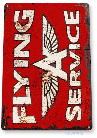 tin sign a757 flying a service retro aviation gas station sign hangar garage tinworld tinsign_com