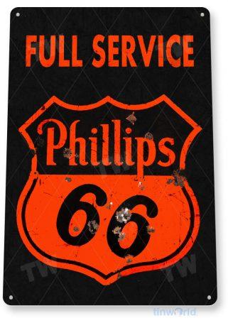 tin sign a760 phillips 66 rustic retro service gas station sign auto shop garage tinworld tinsign_com