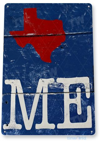 tin sign a761 tex me rustic texas text cottage farm barn cave tinworld tinsign_com