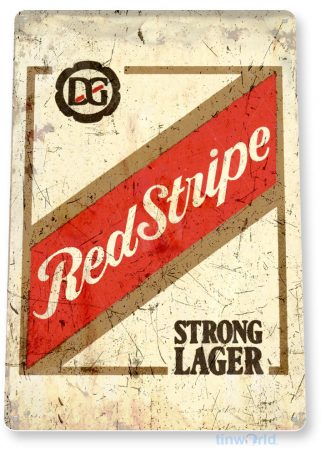 tin sign a776 red stripe jamaican beer rustic bar sign pub cottage cave tinworld tinsign_com