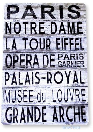 tin sign a778 paris rustic eiffel grand arche palais royal opera sign cottage cave tinworld tinsign_com