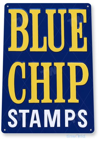 tin sign a813 blue chip stamps retro store sign kitchen cottage farm tinworld tinsign_com