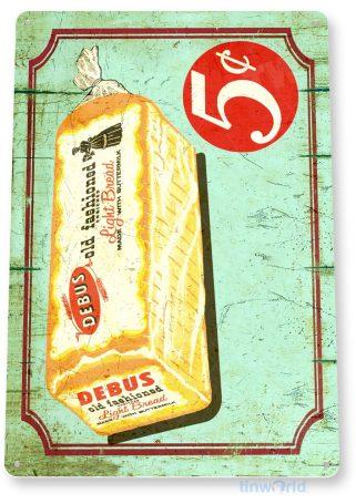 tin sign a816 debus bread rustic retro store sign kitchen cottage farm tinworld tinsign_com
