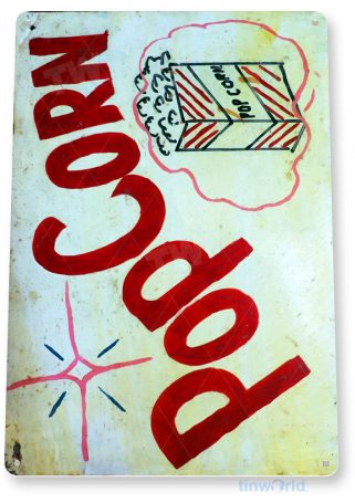 tin sign a842 popcorn paint rustic home theater sign kitchen cottage farm store bar tinworld tinsign_com