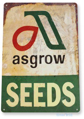tin sign a845 asgrow seeds rustic farm store sign cottage shop store cave tinworld tinsign_com