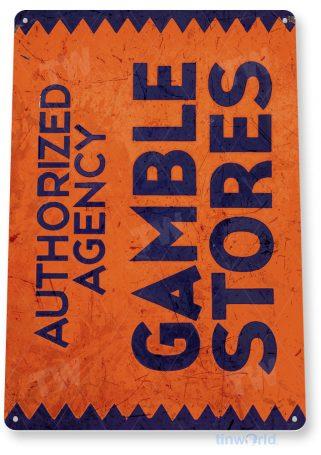 tin sign a854 gamble stores tools retro rustic shop store sign garage cave tinworld tinsign_com