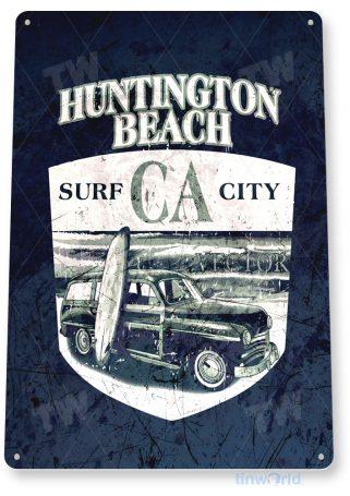 tin sign a857 huntington beach surf board shop sign beach cottage store bar tinworld tinsign_com
