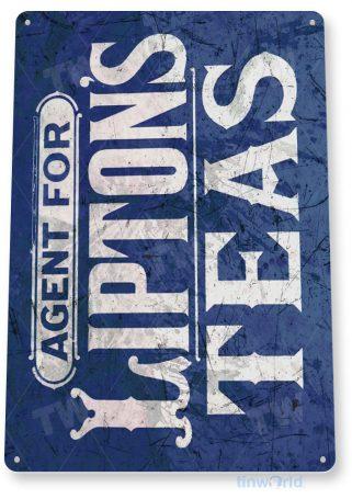 tin sign a858 lipton's teas rustic retro store sign coffee shop kitchen cottage farm tinworld tinsign_com