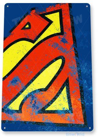 tin sign a881 superman logo comic super hero store shop cave tinworld tinsign_com