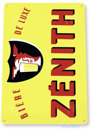 tin sign a884 zenith biere retro bar pub sign wisconsin beer shop store cave tinworld tinsign_com
