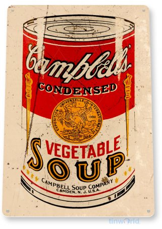 tin sign a906 campbell's soup can rustic retro store sign kitchen cottage farm tinworld tinsign_com