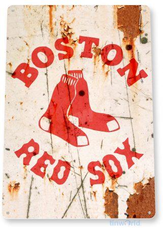 tin sign a907 boston red sox rustic retro baseball fenway sports sign bar cave tinworld tinsign_com
