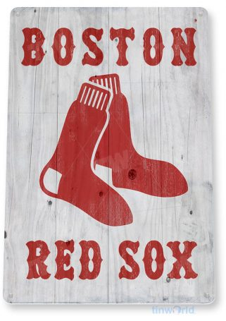tin sign a908 boston red sox rustic retro baseball fenway sports sign bar cave tinworld tinsign_com