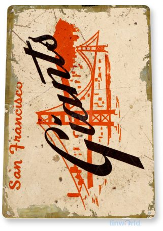 tin sign a917 san francisco giants rustic retro baseball sports sign garage bar cave tinworld tinsign_com