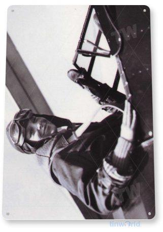 tin sign a922 amelia earhart women aviation pilot historic photo tinworld tinsign_com