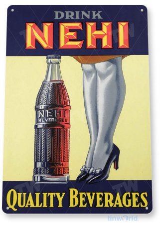 tin sign a941 nehi cola beverages retro soda store sign kitchen cottage farm cave tinworld tinsign_com