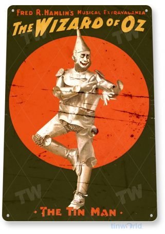 tin sign a942 wizzard of oz movie poster home theater sign cave tinworld tinsign_com