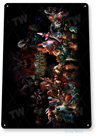 tin sign a954 world of warcraft characters arcade pc game room tinworld tinsign_com