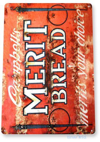 tin sign a962 merit bread retro rustic store sign kitchen cottage farm tinworld tinsign_com