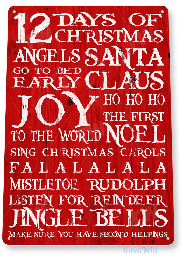 Define Good Metal Art Holiday Christmas Store Shop A966 TIN SIGN Dear Santa
