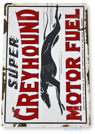 tin sign a977 greyhound motor fuel retro rustic oil gas station sign auto shop garage cave tinworld tinsign_com
