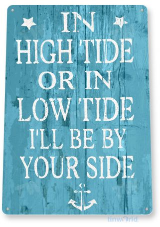 tin sign a989 high low tide rustic beach house sign kitchen cottage cave tinworld tinsign_com