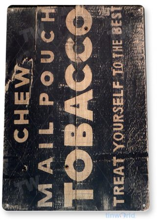 tin sign a997 mail pouch tobacco rustic cigar sign smoke shop bar cave tinworld tinsign_com