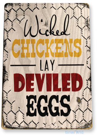 tin sign b059 chicken eggs rustic pen coop sign kitchen cottage farm barn store tinworld tinsign_com