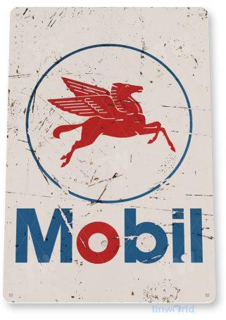 tin sign b072 mobil logo rustic rust oil gas station sign auto shop garage cave tinworld tinsign_com