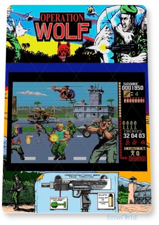 tin sign b089 operation wolf arcade shop game room marquee sign retro console tinworld tinsign_com