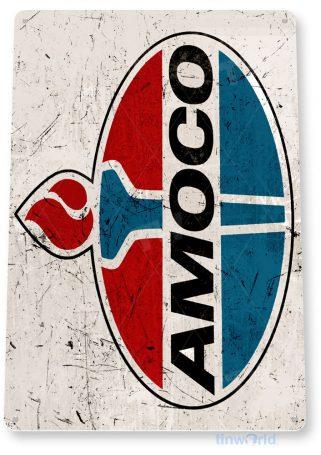 tin sign b103 amoco oil retro rustic gas station sign garage auto shop cave tinworld tinsign_com