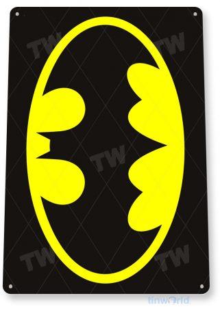 tin sign b108 batman sign superhero cartoon bat cave tinworld tinsign_com