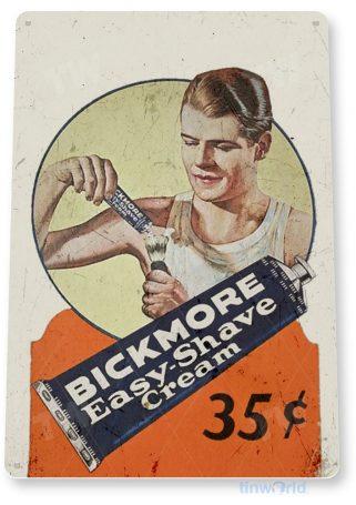tin sign b111 bickmore easy shave retro rustic barber sign cream cottage farm cave tinworld tinsign_com
