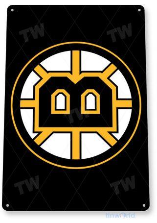 tin sign b116 boston bruins nhl hockey sign sports cave tinworld tinsign_com