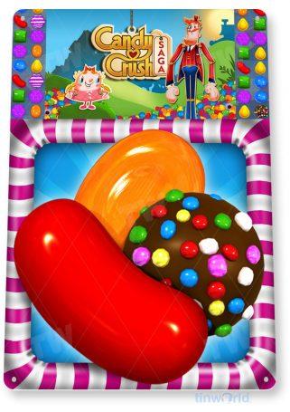 tin sign b119 candy crush smart phone app icon tinworld tinsign_com