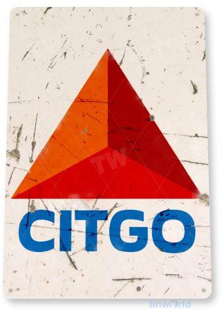 tin sign b124 citgo oil retro rustic gas station sign garage auto shop cave tinworld tinsign_com